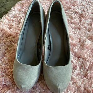 Grey Suede Heels
